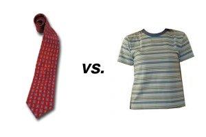 Krawatte vs. geek
